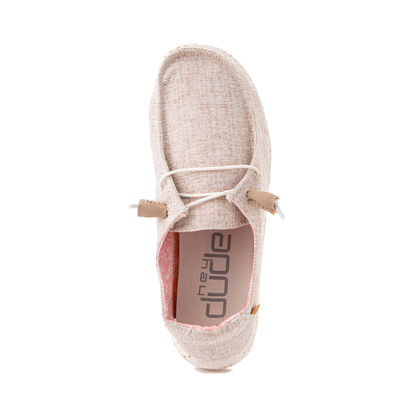 alternate view Womens Hey Dude Wendy Slip On Casual Shoe - NaturalALT2