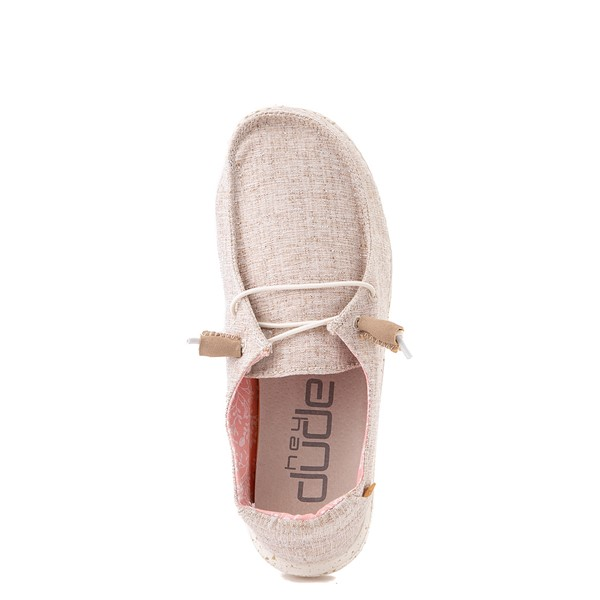 alternate view Womens Hey Dude Wendy Slip On Casual Shoe - NaturalALT4B
