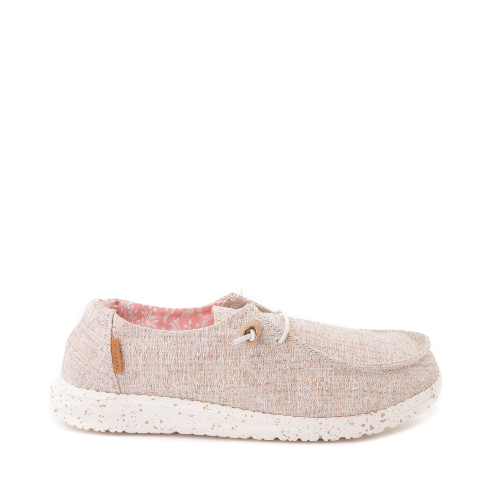 Womens Hey Dude Wendy Slip On Casual Shoe - Natural