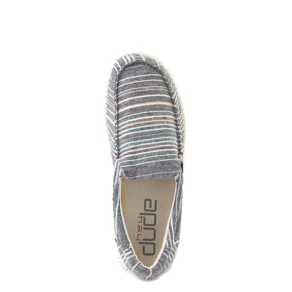 alternate view Womens Hey Dude Misty Slip On Casual Shoe - NavyALT2