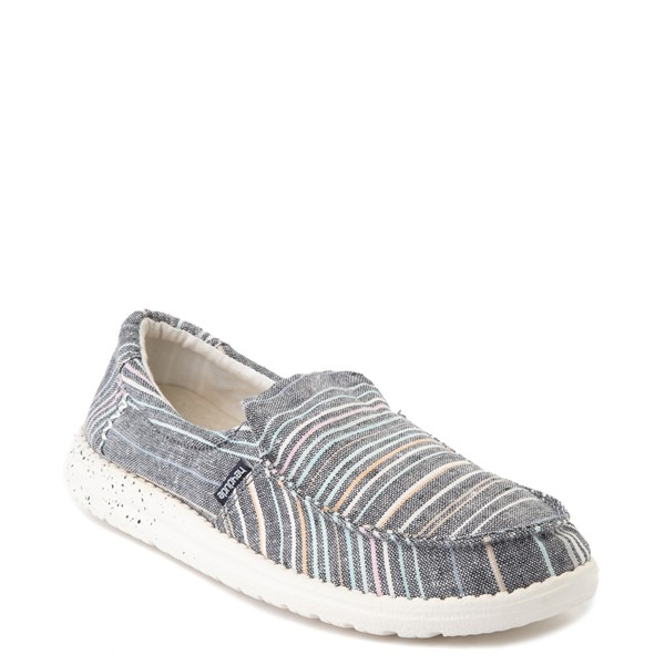alternate view Womens Hey Dude Misty Slip On Casual Shoe - NavyALT5