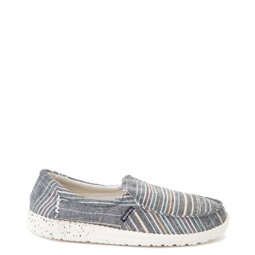 Womens Hey Dude Misty Slip On Casual Shoe - Navy