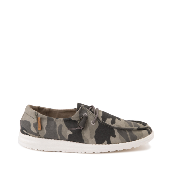 Womens Hey Dude Wendy Slip On Casual Shoe - Camo