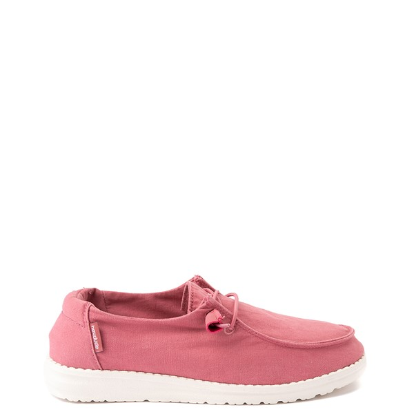 Womens Hey Dude Wendy Slip On Casual Shoe - Rose