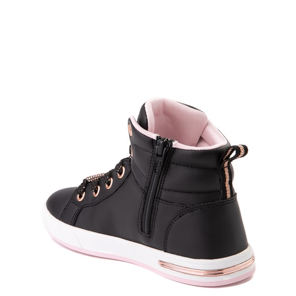 alternate view Skechers Shoutouts Sparkle and Style Sneaker - Little Kid - Black / Rose GoldALT2