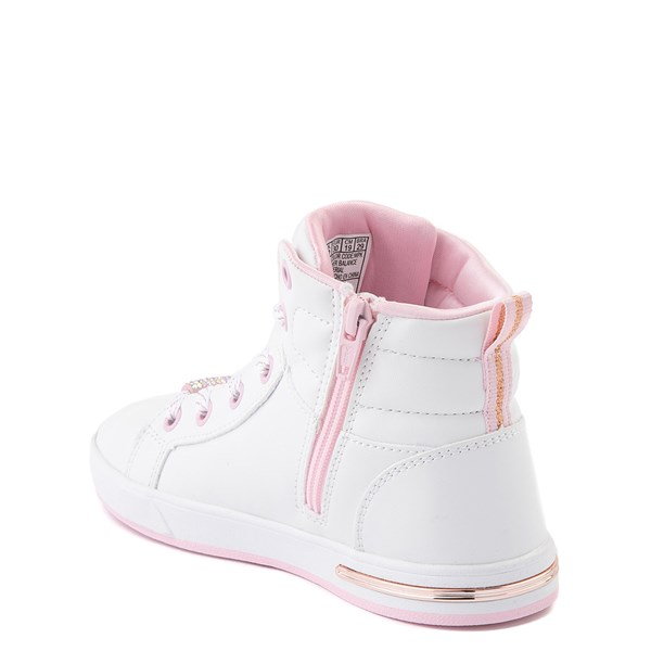 alternate view Skechers Shoutouts Sparkle and Style Sneaker - Little Kid - White / PinkALT2