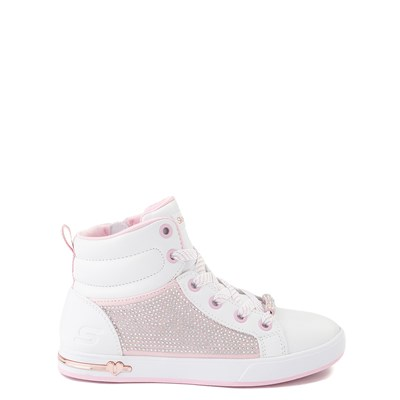 Main view of Skechers Shoutouts Sparkle and Style Sneaker - Little Kid - White / Pink