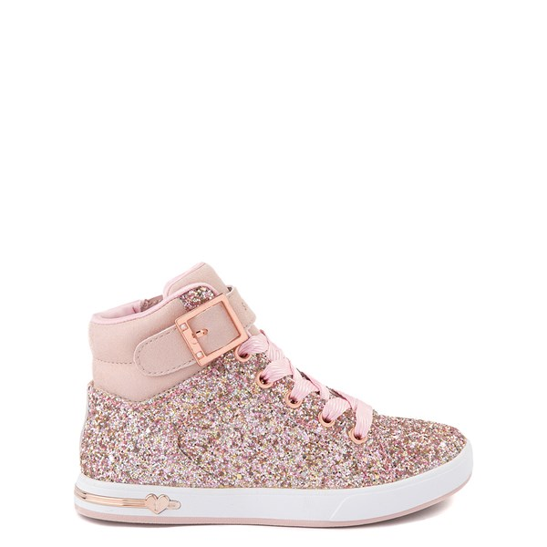 Main view of Skechers Shoutouts Sparkle On Top Sneaker - Little Kid - Rose Gold