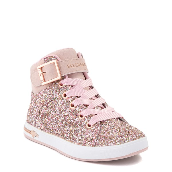 alternate view Skechers Shoutouts Sparkle On Top Sneaker - Little Kid - Rose GoldALT1