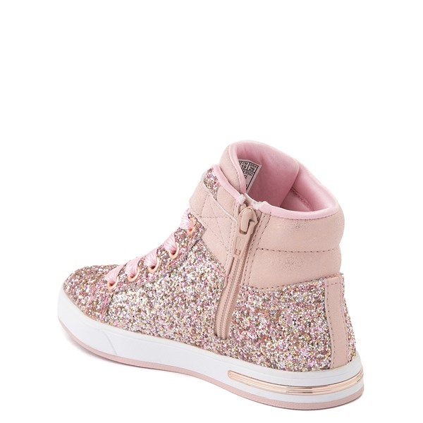 alternate view Skechers Shoutouts Sparkle On Top Sneaker - Little Kid - Rose GoldALT2