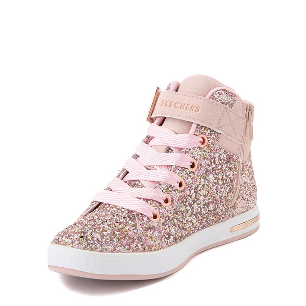 alternate view Skechers Shoutouts Sparkle On Top Sneaker - Little Kid - Rose GoldALT3