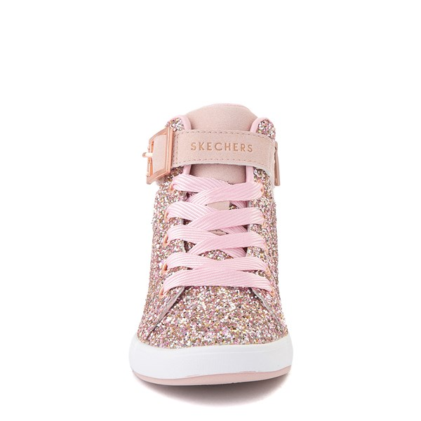 alternate view Skechers Shoutouts Sparkle On Top Sneaker - Little Kid - Rose GoldALT4
