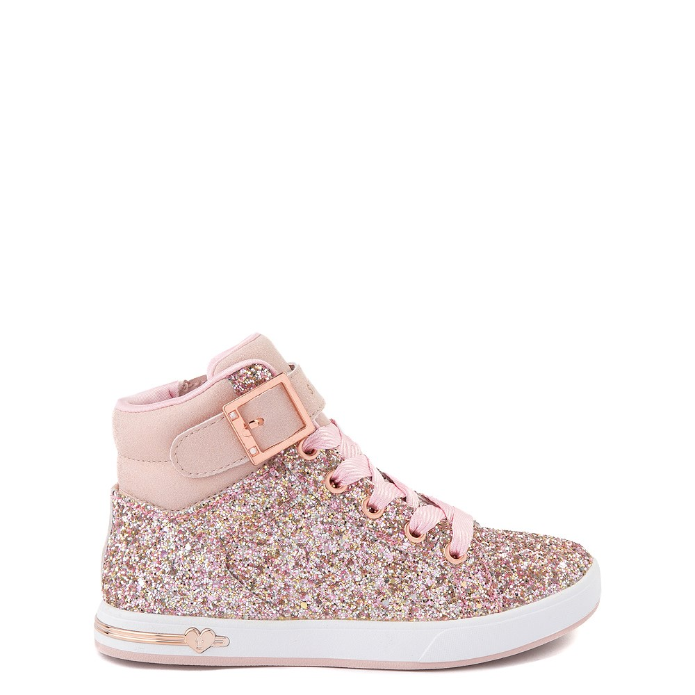 Skechers Shoutouts Sparkle On Top Sneaker - Little Kid - Rose Gold