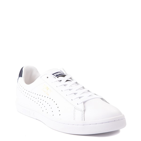 alternate view Mens Puma Court Star Athletic Shoe - White / NavyALT1