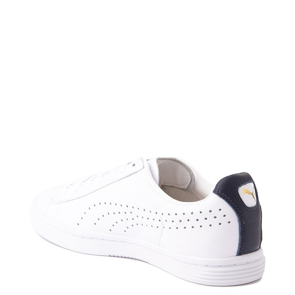 alternate view Mens Puma Court Star Athletic Shoe - White / NavyALT2