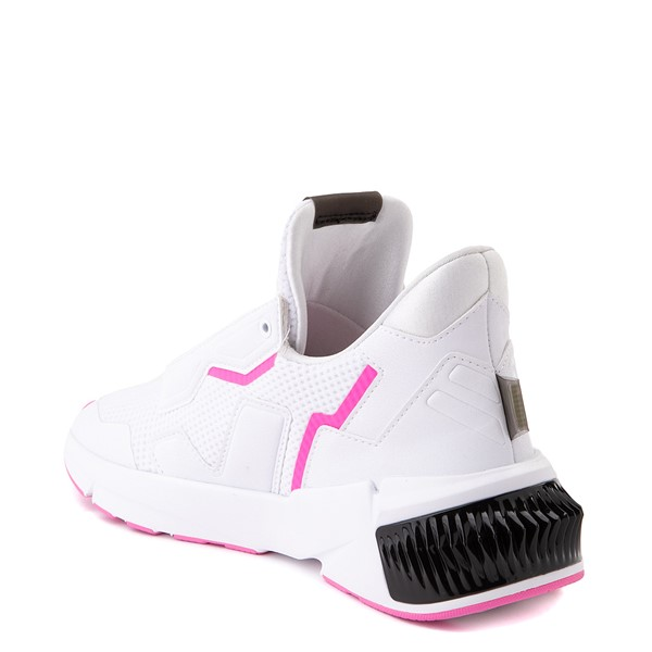 alternate view Womens Puma Provoke XT Athletic Shoe - White / Black / PinkALT1