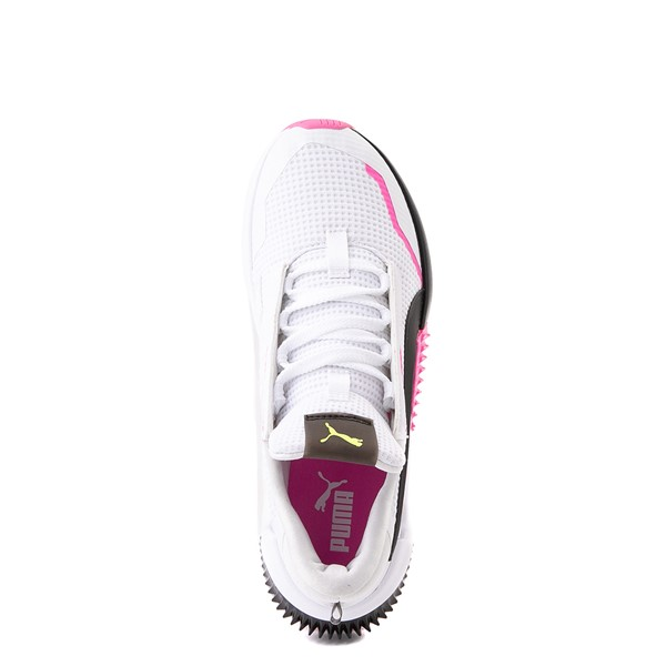 alternate view Womens Puma Provoke XT Athletic Shoe - White / Black / PinkALT2