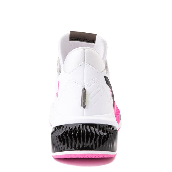 alternate view Womens Puma Provoke XT Athletic Shoe - White / Black / PinkALT4