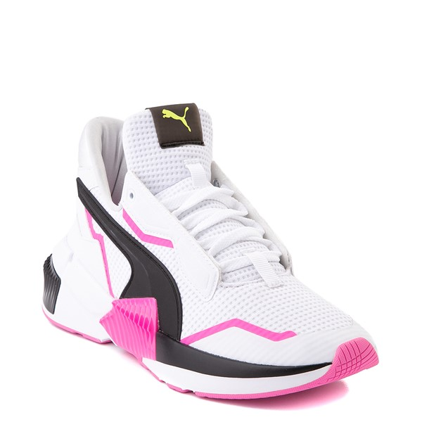alternate view Womens Puma Provoke XT Athletic Shoe - White / Black / PinkALT5