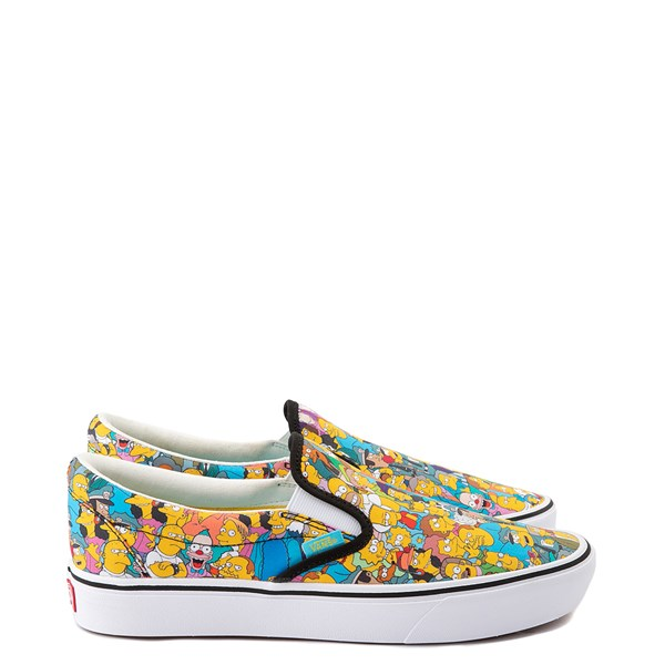 alternate view Vans x The Simpsons Slip On ComfyCush® Springfield Skate Shoe - MulticolorALT1