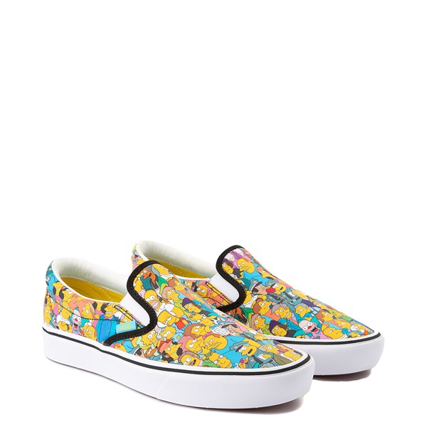 alternate view Vans x The Simpsons Slip On ComfyCush® Springfield Skate Shoe - MulticolorALT1B
