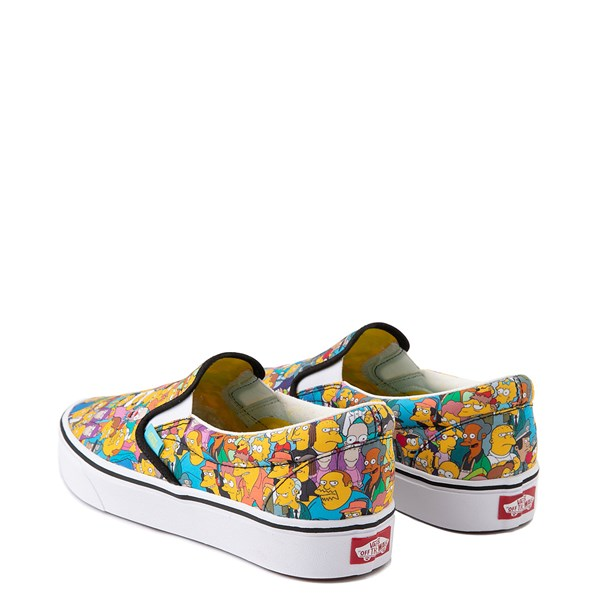alternate view Vans x The Simpsons Slip On ComfyCush® Springfield Skate Shoe - MulticolorALT2