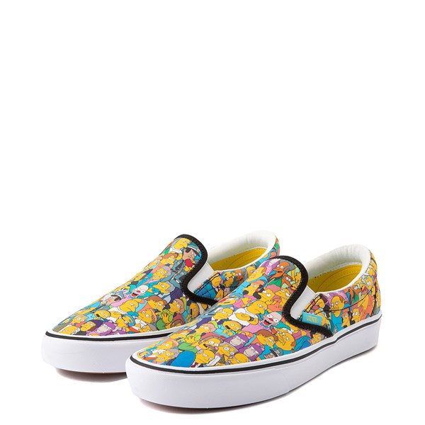 alternate view Vans x The Simpsons Slip On ComfyCush® Springfield Skate Shoe - MulticolorALT3