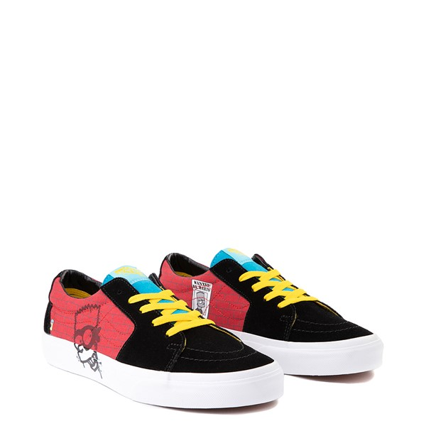 alternate view Vans x The Simpsons Sk8 Low El Barto Skate Shoe - Black / RedALT1