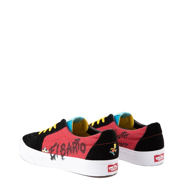 alternate view Vans x The Simpsons Sk8 Low El Barto Skate Shoe - Black / RedALT2