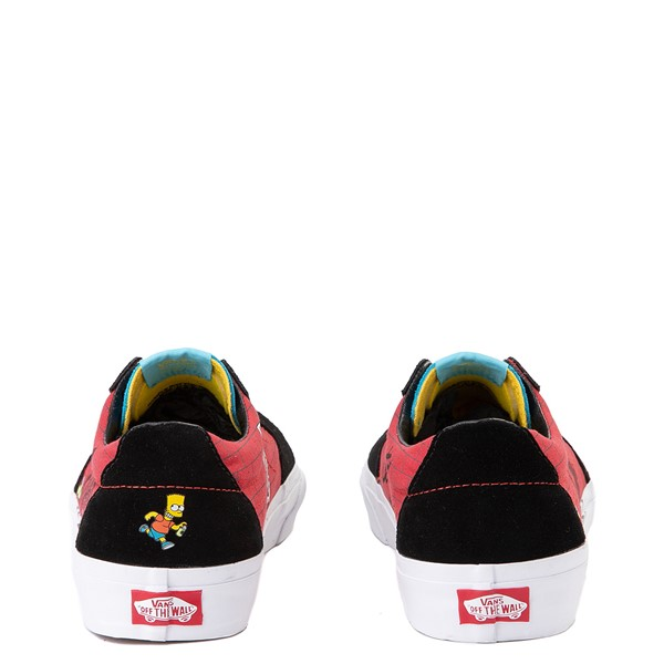 alternate view Vans x The Simpsons Sk8 Low El Barto Skate Shoe - Black / RedALT2B
