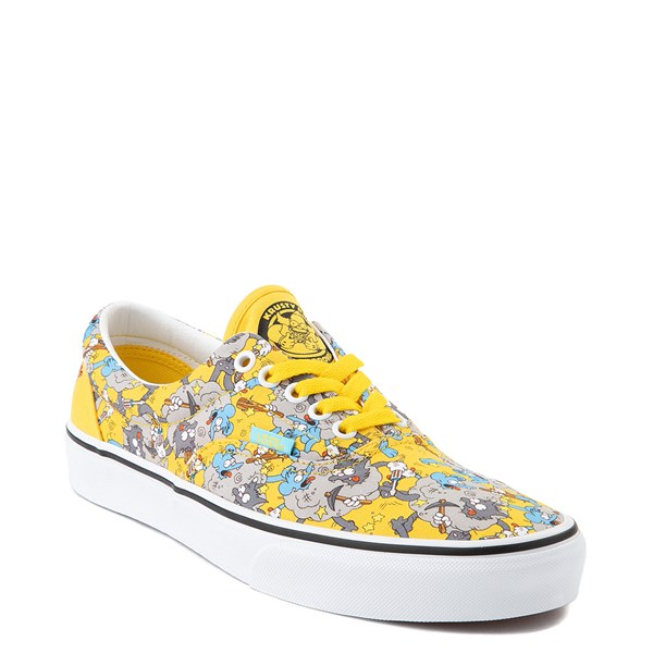 alternate view Vans x The Simpsons Era Itchy and Scratchy Skate Shoe - YellowALT1