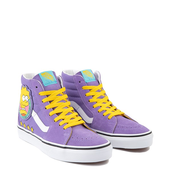 alternate view Vans x The Simpsons Sk8 Hi Lisa For President Skate Shoe - PurpleALT1