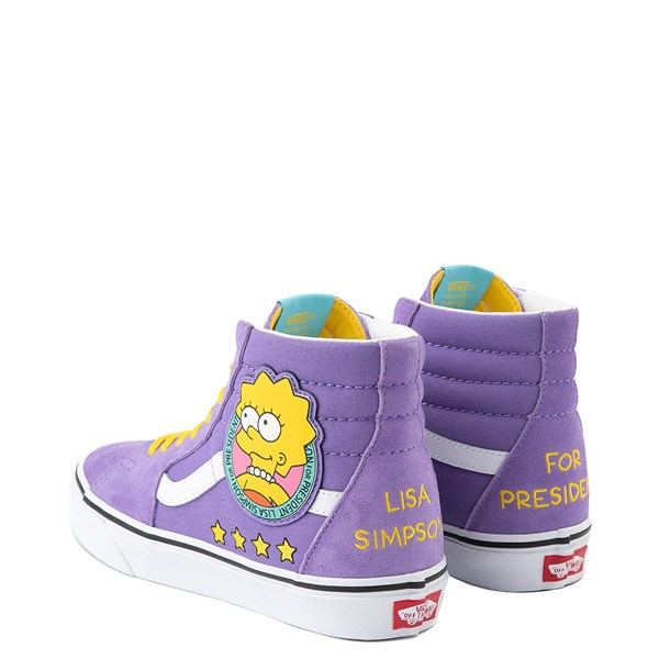 alternate view Vans x The Simpsons Sk8 Hi Lisa For President Skate Shoe - PurpleALT2