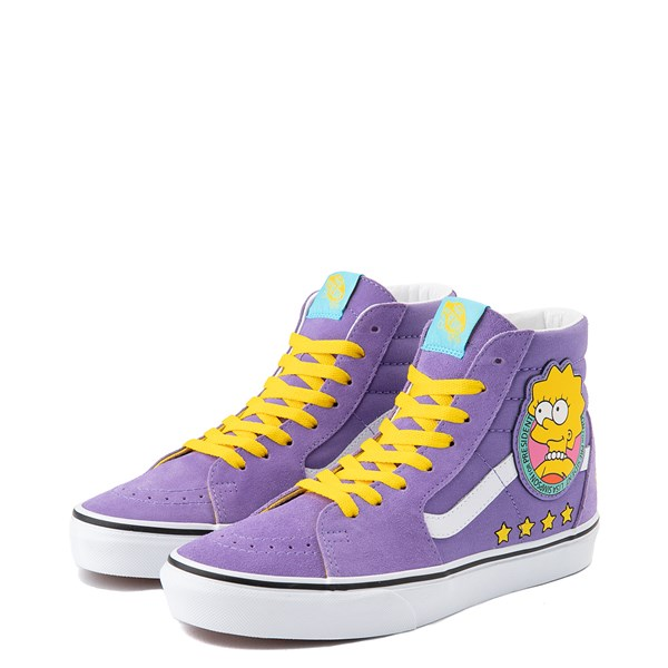 alternate view Vans x The Simpsons Sk8 Hi Lisa For President Skate Shoe - PurpleALT3