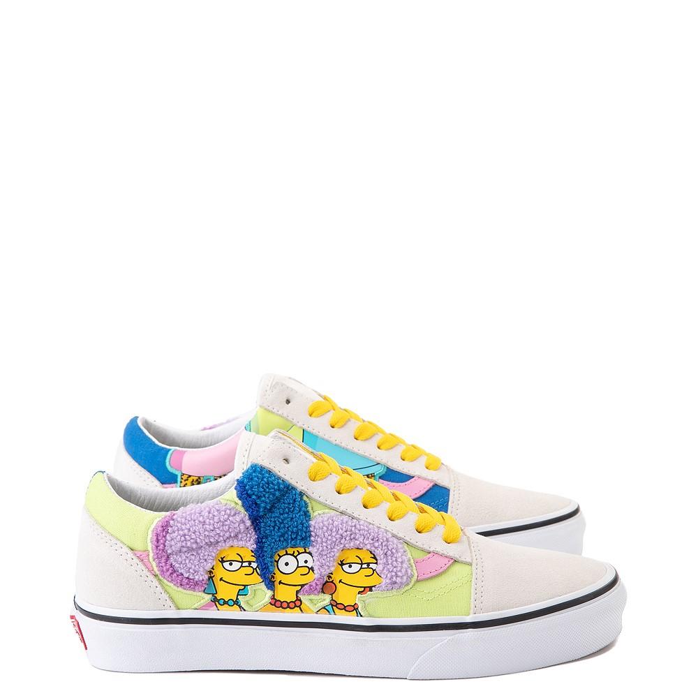 Vans x The Simpsons Old Skool The Bouviers Skate Shoe - Natural