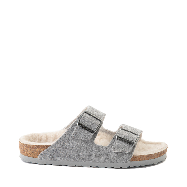 Main view of Womens Birkenstock Arizona Wool Felt Sandal - Gray
