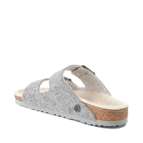 alternate view Womens Birkenstock Arizona Wool Felt Sandal - GrayALT1