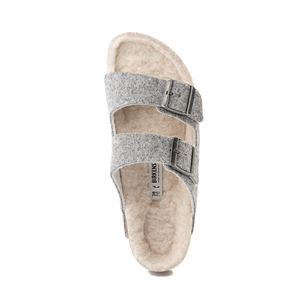 alternate view Womens Birkenstock Arizona Wool Felt Sandal - GrayALT2