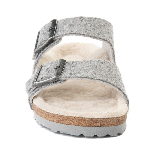 alternate view Womens Birkenstock Arizona Wool Felt Sandal - GrayALT4