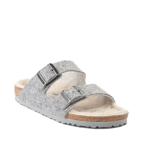 alternate view Womens Birkenstock Arizona Wool Felt Sandal - GrayALT5