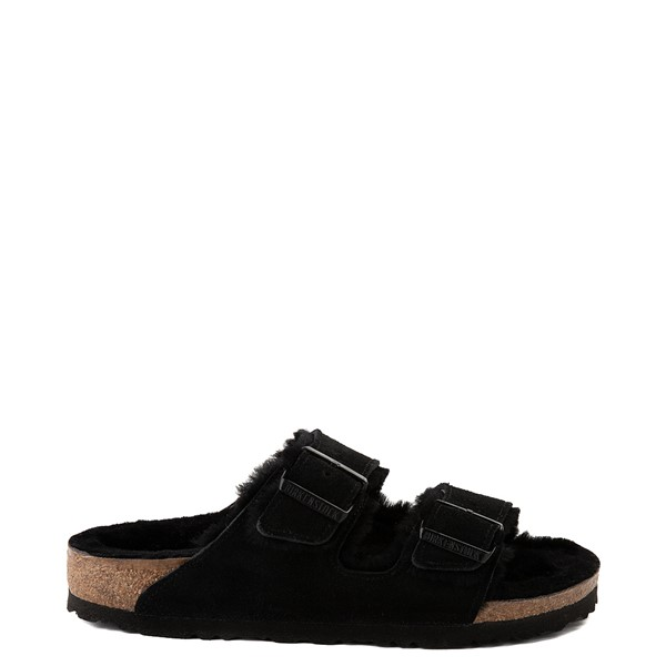 Main view of Womens Birkenstock Arizona Shearling Sandal - Black