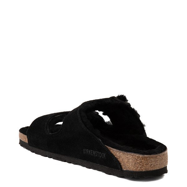 alternate view Womens Birkenstock Arizona Shearling Sandal - BlackALT1