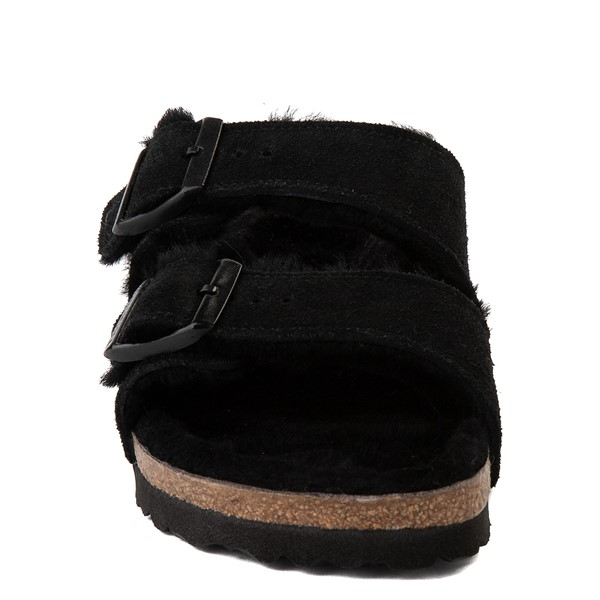 alternate view Womens Birkenstock Arizona Shearling Sandal - BlackALT4