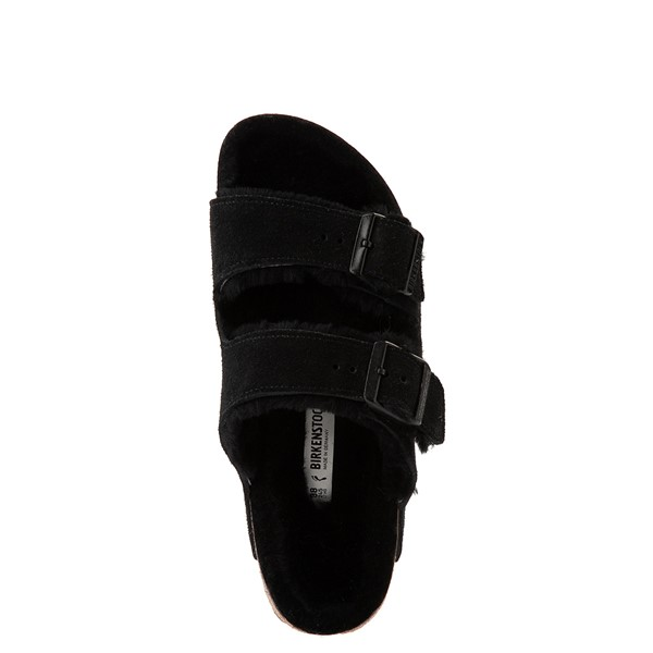 alternate view Womens Birkenstock Arizona Shearling Sandal - BlackALT4B