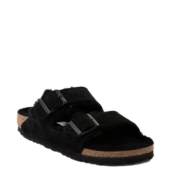 alternate view Womens Birkenstock Arizona Shearling Sandal - BlackALT5