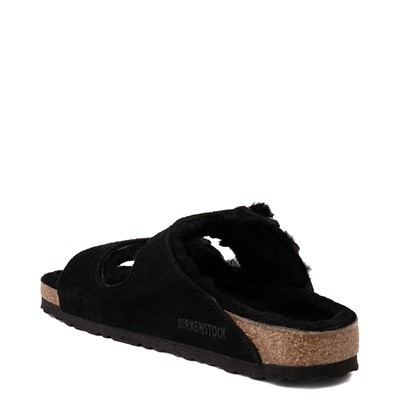 Alternate view of Womens Birkenstock Arizona Shearling Sandal - Black