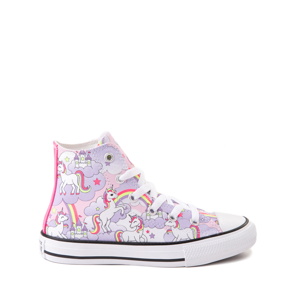 Converse Chuck Taylor All Star Hi Unicorn Rainbow Sneaker - Little Kid / Big Kid - Pink Foam