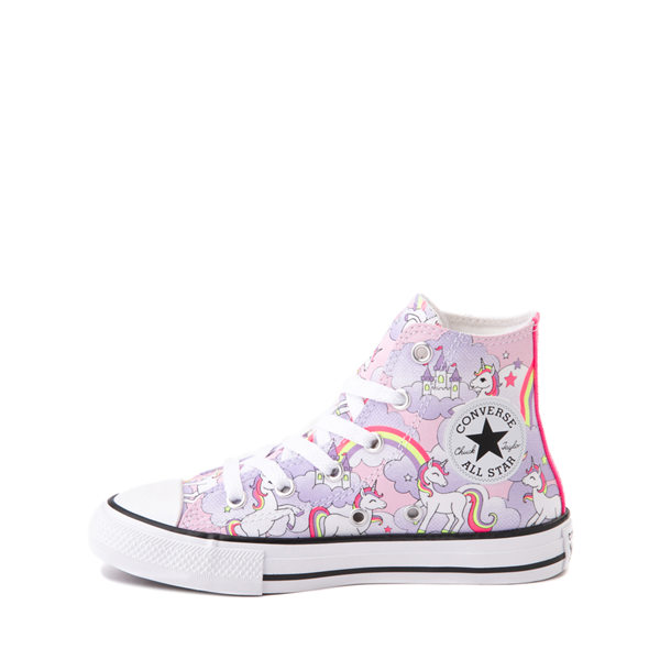 alternate view Converse Chuck Taylor All Star Hi Unicorn Rainbow Sneaker - Little Kid / Big Kid - Pink FoamALT1