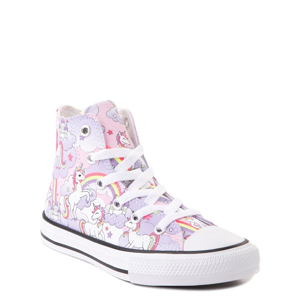 alternate view Converse Chuck Taylor All Star Hi Unicorn Rainbow Sneaker - Little Kid / Big Kid - Pink FoamALT1B