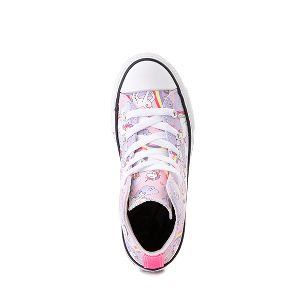 alternate view Converse Chuck Taylor All Star Hi Unicorn Rainbow Sneaker - Little Kid / Big Kid - Pink FoamALT2